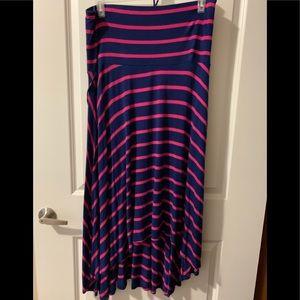 Motherhood strapless high-low hem maxy dress
